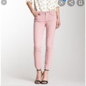 7FAM Purple Cropped Gwenevere Jeans